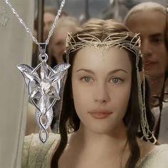 The Lord Of The Hobbit Arwen Estrela Vespertina pingente de prata longo colar para os homens as mulheres se vestem colarinho masculino feminino do vintage sete cristal Men Necklace, Pendant Necklace, Arwen, Radagast The Brown, My Precious, Collar Dress, Lord Of The Rings, Lotr, Stars