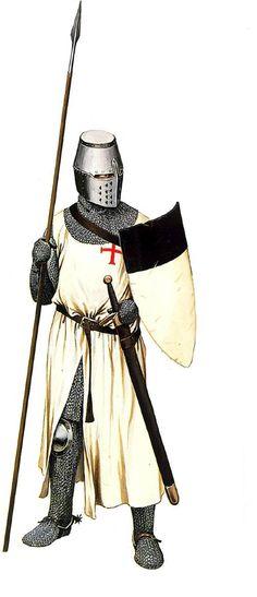 1290 Caballero templario a pie