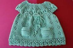 Resultado de imagen para vestidos tejidos a crochet para bebe