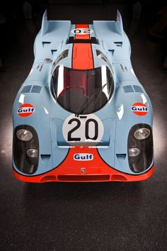 1970 Porsche 917K | Kurzheck | Short Tail | Winner of the 24 Hours of Le Mans in 1970 and 1971 | Gulf Oil Livery | Only 12 original Kurzhecks were produced  The No.20 917K was the car used by Steve McQueen in the 1971 movie Le Mans | The No 20 was owned by race car piloti Jo Siffert who drove and raced the 917k