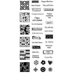 Inkadinkado Clear Stamps - Greetings (98782)  #498