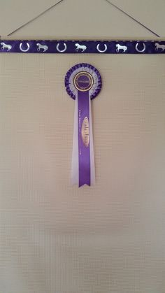 Ideas for your Horse show Rosettes.   Horse rosette holder