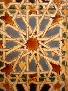 Moorish tile from Seville, Spain.