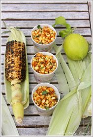 Sreelus Tasty Travels: Spicy Roasted Corn with Taco Flavored Butter infused with Cilantro and Lemon