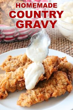 Homemade Country Gravy Recipe - Food Meme - A recipe for simple Homemade Country Gravy perfectly seasoned with a just-right consistency and ready in less than 10 minutes! The post Homemade Country Gravy Recipe appeared first on Gag Dad. Homemade Country Gravy Recipe, White Country Gravy Recipe, Homemade White Gravy, Easy Gravy Recipe, Best White Gravy Recipe, Homemade Gravy For Biscuits, Cooks Country Recipes, Southern Recipes, Southern Food