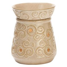 Angora Full-Size Scentsy Warmer  Inspired by Spain's rich history and varied landscape, Angora's beautiful scrolls are highlighted in shades of cream and honey.