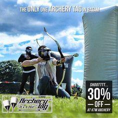 """Discount 30% Everyday  KTM memperkenalkan satu-satunya permainan yang ada di Batam. Rasakan keseruan permainan panah memanah di KTM Archery Tag. Permainan ini merupakan gabungan dari Dodgeball dan Pinball yang saat ini sedang booming di seluruh dunia. Nikmati potongan sebesar 30% bagi anda yang ingin merasakan adrenaline bermain di Archery Tag.   Jumlah Pemain Minimal = 4 orang  Jumlah Pemain Efektif = 8 - 10 orang  Harga Normal = Rp 100.000 /org  Harga GoDeal = Rp 70.000 /org (Diskon 30%)   Setiap hari (termasuk Libur)  KTM Resort Sekupang Tg. Pinggir  Category: Sport  CARA NIKMATI PROMO:  Install GoDeal di Appstore & Playstore  Cari merchant  ktm.archerytag""""  Klik promo utk ambil kuponnya  Tunjukin kuponnya dan nikmati diskon  Free  Gampang  Instant   ℹ Jangan lupa isi Review setelah kupon di-scan. Anda dapat Cashback (selain diskon) tambahan dihitung dari nilai transaksi netto (setelah diskon sebelum pajak & svc chg.)   Share deal ini ke teman-teman anda jgn lupa berbagi foto anda pake tag #weLoveGodeal apabila sdh pake kupon GoDeal memiliki rasa kebersamaan dan membantu Batam Local Merchant! Archery Tag, Batam, Pinball, Tags, Movie Posters, Movies, Films, Film Poster, Cinema"""