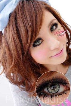Princess Pinky Twilight Grey Circle Lenses (Colored Contacts)