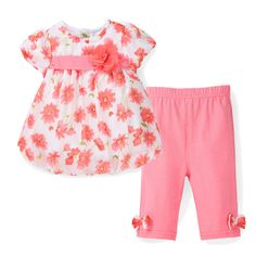 Special offer 2017 New Summer Baby Girl Floral Print Chiffon T-shirt + Cotton Capris Pants Infant Clothing Set Newborn Bebes Clothes just only $10.60 with free shipping worldwide  #babygirlsclothing Plese click on picture to see our special price for you