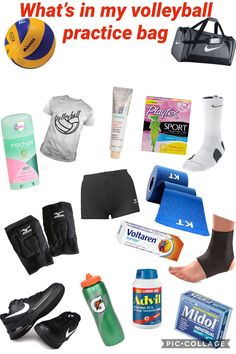 What's in my volleyball bag for a practice! Volleyball Gear, Volleyball Skills, Volleyball Practice, Volleyball Tournaments, Volleyball Training, Volleyball Outfits, Volleyball Workouts, Coaching Volleyball, Beach Volleyball