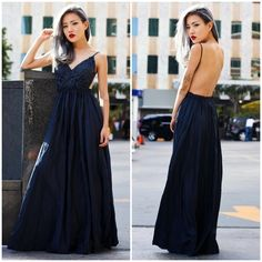 "X ""Moonset"" Backless Lace Maxi Dress Lace front backless maxi dress. Look your most stunning with this beauty. Available in black and ivory. This listing is for the BLACK. Brand new. PRICE FIRM. NO TRADES. Bare Anthology Dresses Maxi"