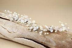 Floral Bridal Headband/ Bridal hair vine/ sparkle by Hinuma