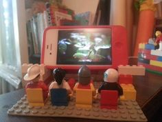 My iPhone charging station... Lego theatre