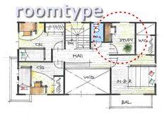書斎のレイアウトと広さ Floor Plans, Floor Plan Drawing, House Floor Plans