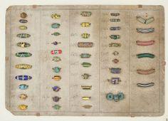 Ercole Moretti Murano  trading bead sample card