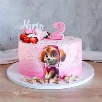 Paw Patrol Sky Cake, Paw Patrol Torte, Bolo Do Paw Patrol, Frozen Birthday Cake, 3rd Birthday Cakes, Paw Patrol Cake Decorations, Paw Patrol Birthday Girl, Bolo Frozen, Olaf Cake