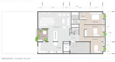 Image 25 of 38 from gallery of 144 House Apartment / Ali Sodagaran + Nazanin Kazerounian. Second Floor Plan Architecture Plan, Residential Architecture, House Map, Ground Floor Plan, Apartment Plans, Pent House, Second Floor, House Plans, Floor Plans