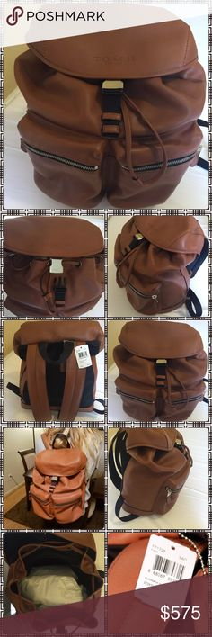 🎀NWOT GORGEOUS AUTHENTIC LEATHER COACH BACKPACK🎀 🎀 NWOT STUNNING AUTHENTIC LARGE LEATHER CARAMEL COACH BACKPACK 🎀 THIS IS SOLD AS A MENS BACKPACK BUT I SAY ITS UNISEX!🎀 I KNOW PICTURE SHOWS TAGS ATTACHED BUT THEY CAME OFF AT SOME POINT AND I CANT LOCATE THEM🎀. GREAT GIFT OR TREAT YOURSELF!🎀.     NO LOW BALLING!     🎀OPEN TO REASONABLE OFFERS 🎀 Coach Bags Backpacks