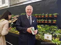 Jonathan Hogarth, of Hogarth Hostas, pictured with his display of small and miniature Hostas, at the RHS Chelsea Flower Show Chelsea 2016, Hampton Court, Buy Plants, Garden Show, Chelsea Flower Show, He's Beautiful, First Time, Nursery, Exhibit