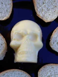 Skull Butter perfect for Halloween Dinner!