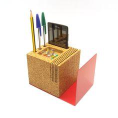 Kit Desk Organiser by HR Design Studio - Cork, white