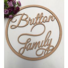 Laser Cut Wooden and Acrylic Decor. Gifts for all Occasions. - Personalised Family Wooden Ring-Various Sizes
