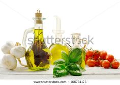 flavored olive oils with italian ingredients by Donatella Tandelli, via ShutterStock
