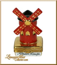 Moulin Rouge Cabaret Limoges box by Beauchamp Limoges www.LimogesBoxCollector.com