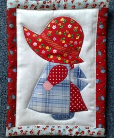 free sunbonnet sue patterns to print - Yahoo Canada Image Search Resul. Crazy Quilt Blocks, Patch Quilt, Quilt Block Patterns, Applique Patterns, Applique Designs, Patchwork Quilting, Bargello Quilts, Applique Quilts, Crazy Quilting