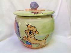Treat Jar Personalized at no Charge Signed by Artist Debby Carman * Be sure to check out this awesome product.