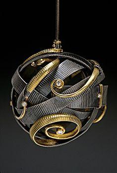 Necklace | Andy Cooperman.  Sterling,18k yellow gold, diamonds || Photo : Doug Yaple