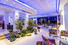 Lobby, bar, lights, colors, night, romantic - Phoenicia Luxury Hotel, Mamaia Nord, Constanta, Romania