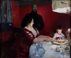 "John Singer Sargent (American, 1856–1925). The Birthday Party (Fête Familiale), 1887. Lent by the Minneapolis Institite of Arts, The Ethel Morrison Van Derlip Fund and the John R. Van Derlip Fund | This work is in our ""Sargent: Portraits of Artists and Friends,"" on view through October 4, 2015."