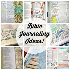 Bible Journaling Ideas I have recently fallen in love with this type of journaling.