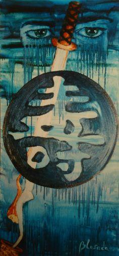 alma samurai: óleo y acrílico sobre lienzo