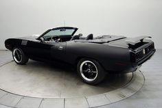 Black 1971 Plymouth 'Cuda | RK Motors Charlotte | Collector and Classic Cars