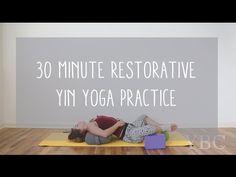 30 Minute Restorative Yoga Video for Hip Flexibility - YouTube