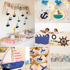 An Adorable Little Sailor Girl First Birthday Party!