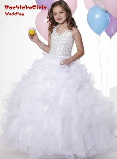 052629a21a71 comunion White flowergirls vestido flower Girl Weddings Pageant Dresses  Little Girls-in Flower Girl Dresses from Weddings & Events on  Aliexpress.com ...