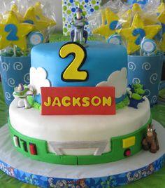 Buzz Lightyear to the rescue birthday cake