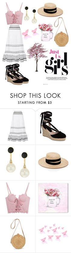 """""""Love"""" by thatimr ❤ liked on Polyvore featuring Lisa Marie Fernandez, Topshop, Kate Spade, Janessa Leone, Puma and Oliver Gal Artist Co."""
