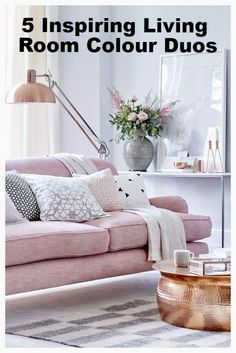 5 Inspiring Living Room Colour Duos #interiors #livingroom #homedecor #colour #decor #style