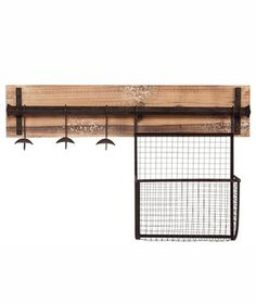 Upton Home Ashbury wall mount coat rack with storage has a distressed fir finish and aged metal accents offering a charming, rustic style. This storage unit is perfect for the entryway or mudroom. Great addition to transitional and contemporary homes. Entryway Wall, Entryway Storage, Foyer, Organized Entryway, Entryway Furniture, Hanging Storage, Wall Storage, Storage Benches, Metal Walls