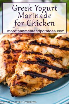 Recipe Using Plain Yogurt, Plain Yogurt Recipes, Greek Recipes, Duck Recipes, Thm Recipes, Healthy Recipes, Chicken Marinade Recipes, Chicken Marinades, Grilling Recipes
