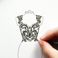 A work in progress. This Monique Lhuillier fall 2014 gown is going to take a whi., Source by ayebeyzak fashion drawing Dress Design Drawing, Dress Design Sketches, Fashion Design Sketchbook, Dress Drawing, Fashion Design Drawings, Fashion Sketches, Fashion Model Drawing, Fashion Figure Drawing, Fashion Drawing Dresses