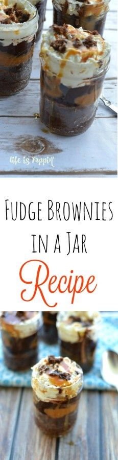These fudge brownies in a jar are the perfect way to serve up a delicious dessert without spending a lot of time in the kitchen.