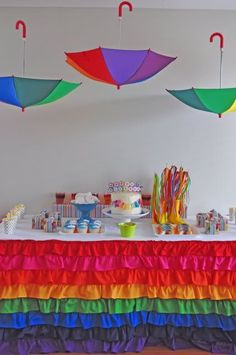 Maisie is a rainbow-a-holic. i may just throw her a little party with a rainbow theme just for fun! Rainbow Parties, Rainbow Birthday Party, Rainbow Theme, Birthday Party Themes, Rainbow Sweets, Birthday Ideas, Rainbow Candy, Art Birthday, Cumple My Little Pony