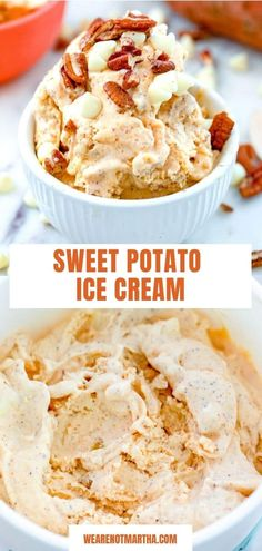You may get some curious looks when you serve this Sweet Potato Ice Cream... But once your guests taste is, they'll fall in love! This delicious ice cream will become everyone's favorite fall ice cream flavor! via @wearenotmartha Ice Cream Flavors, Ice Cream Recipes, Sweet Potato Ice Cream Recipe, Frozen Love, Fresh Fruits And Vegetables, Summer Cocktails, Frozen Desserts, Sorbet, Potatoes