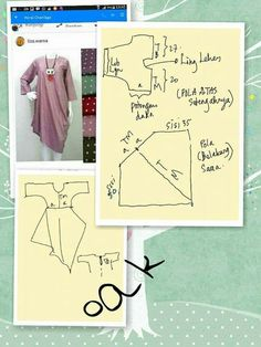 24 Ideas For Sewing Patterns Pdf Free Products Sewing Patterns Free, Clothing Patterns, Kaftan Pattern, Techniques Couture, Dress Making Patterns, Batik Dress, Pattern Cutting, Mode Hijab, Pattern Drafting