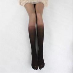 Women Fashion Edgy Gradient Color Socks Stockings
